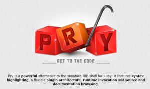 IRB Ruby Pry for developers.